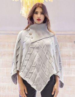 661bc6fdf9f9 SuperSoft - Poncho with Cable Pattern