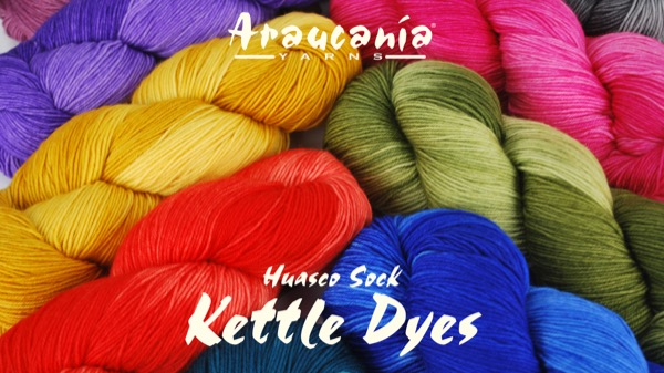 product page for, Araucania Huasco Sock Kettle Dyes