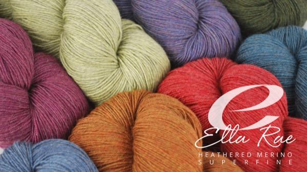 product page for, Ella Rae Heathered Merino Superfine
